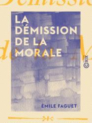 La Démission de la morale