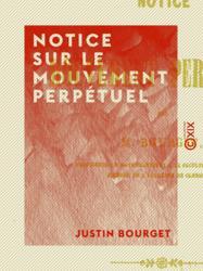 Notice sur le mouvement perpétuel