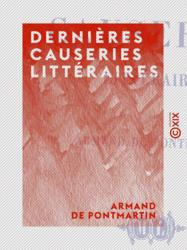 Dernières causeries littéraires