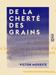 De la cherté des grains