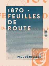 1870 - Feuilles de route