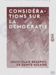 Considérations sur la démocratie