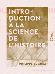 Introduction à la science de l'histoire