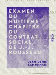 Examen du huitième chapitre du Contrat social de J.-J. Rousseau